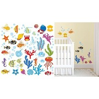 Ocean Wonders Decorative Peel & Stick Wall Art Sticker Decals by CherryCreek Decals