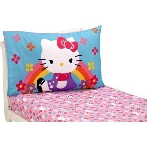 Hello Kitty Stars and Rainbows Toddler Sheet Set by Sanrio by Hello Kitty