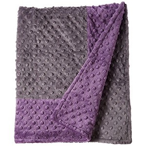 Cozy Wozy Signature Minky Baby Blanket, Purple/Charcoal Gray, 30 x 36 by Cozy Wozy