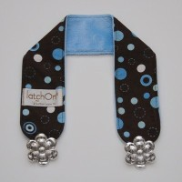 LatchOn Dot Blue Minky Nursing Blanket Strap by LatchOn [並行輸入品]