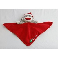 Plush Sock Monkey Christmas I Love (Heart) Snuggle Buddy Rattle by Baby Starters