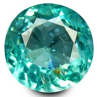 アパタイト ルーズジェムストーン 0.52 ct Round Shape (5 mm) 100% Natural Un-Heated Paraiba Blue Color Brazilian...