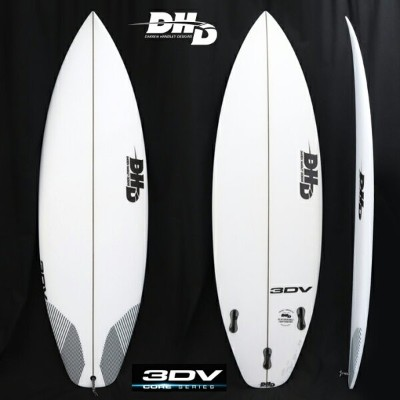 "【DHD SURFBOARDS】DHD サーフボード3DV 5'7"" 25.5CL 2018New Model!FCS2 5FIN 送料無料"