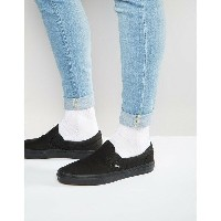 バンズ メンズ スニーカー シューズ Vans Classic Slip-On Plimsolls In Black VEYEBKA Black
