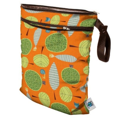 Planet Wise Wet/Dry Diaper Bag - Orange Woods by Planet Wise