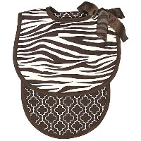 Raindrops Zebra Bib and Burp Set, Brown by Raindrops
