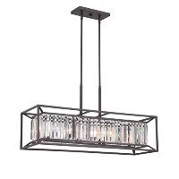 Designers Fountain 87438-VB Linares 4 Light Linear Chandelier by Designers Fountain