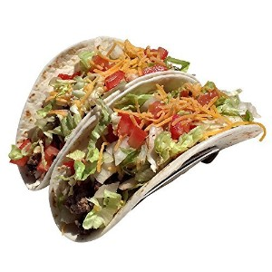 Premium Taco Holders, Restaurant Style Mexican Food Stainless Steel Rack. Stand Holds Hard or Soft...