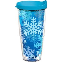 Tervis 1188693Snowflakes Tumbler withターコイズ蓋、ブルー