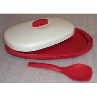 TupperwareレッドLegacy Serving Platter withレッドスプーン