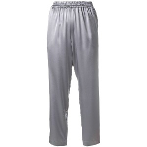 Gianluca Capannolo satin tapered trousers - メタリック