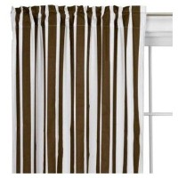 Stripes White/Chocolate Curtain Panel by Bacati