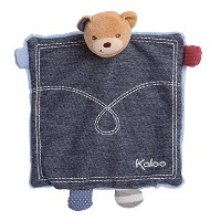 Kaloo Denim Plush Toy, Doudou Bear Puppet Treasure [並行輸入品]