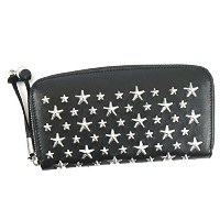 ジミーチュー 財布 長財布 JIMMY CHOO FILIPA LEATHER WITH STARS BLACK CST 並行輸入品
