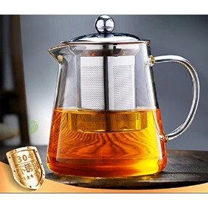 Obor、ティーポット、ガラスティーポットwith 304ステンレススチールInfuser for Blooming and Loose Leafホウケイ酸Tea Pot450ml