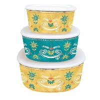 Lang Seasoned with Love Nesting Bowls with Lid、マルチカラー
