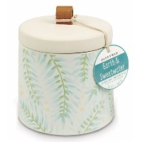 Paddywax Botanyコレクション香りつきSoy Wax Candle、10オンス、Earth & Sweetwater