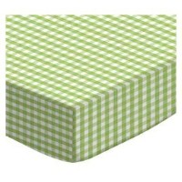 SheetWorld Fitted Pack N Play (Graco Square Playard) Sheet - Sage Gingham Jersey Knit - Made In USA...