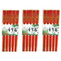 Lot Of 30 (15 Pair) Asian Oriental Chopsticks w/Dragon Painting / Chop Sticks Red by Asian Imports