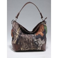 Licensed Mossy Oak Western Camo Camouflageホーボーバッグハンドバッグ