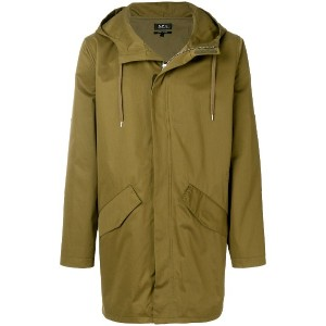 A.P.C. elongated style coat - グリーン