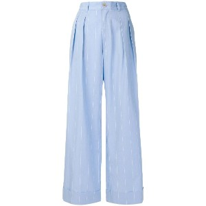 Erika Cavallini high-waisted trousers - ブルー