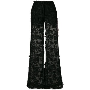 Ainea embroidered flared trousers - ブラック
