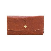 Il Bisonte embossed logo wallet - ブラウン