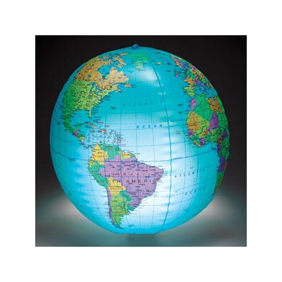 Learning Resources Inflatable Light-up Globe ライトアップ地球儀 ビーチボール型 LER 2443