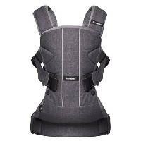 BABYBJORN Baby Carrier One - Denim Gray/Gray, Cotton Mix by BabyBj?rn