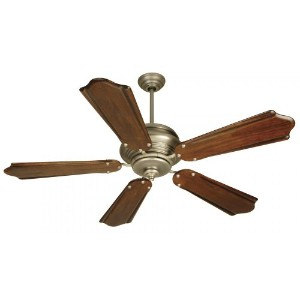 Craftmade K10362 Townsend Ceiling Fan with Custom Carved Classic Ebony Blades, 56, Pewter by...