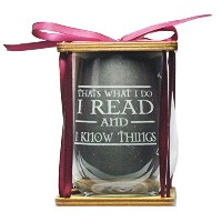 I Read and I Know Things 360度Engraved Stemlessワインガラス