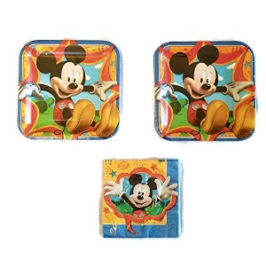 """Mickey Mouse and Friends Partyバンドル9""""プレート( 16) Napkins ( 16)"""