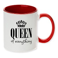 Queen of Everything面白いレッドトーン面白い。Available In 11 – 12ozまたはEl Grande 425コーヒーマグ。Perfect for the Queen...