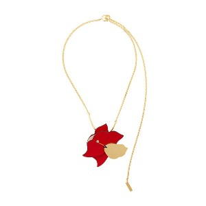Marni floral necklace - レッド