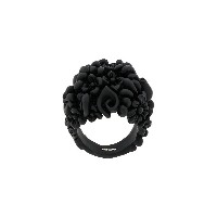 Salvatore Ferragamo floral finger ring - ブラック