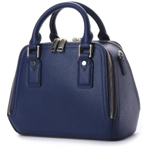 【SALE 40%OFF】キュリビスキュイ CURI BISCUI レザーダブルファスナーバッグ (Navy) レディース