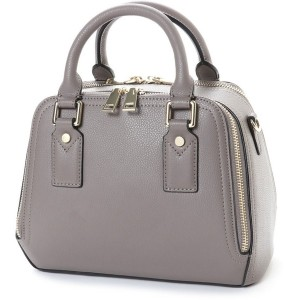 【SALE 40%OFF】キュリビスキュイ CURI BISCUI レザーダブルファスナーバッグ (Gray Beige) レディース