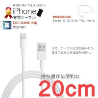 20cm iPhone7 iPhone7 Plus iPhone 6 iPhone6Plus iPhone SE iPhone5S/5C iPad mini iPad5 iPad Air充電ケーブル
