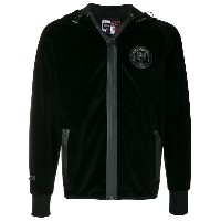 Plein Sport patch velvet bomber jacket - ブラック