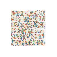 Moschino all over logo print scarf - ホワイト