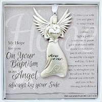 Always an Angel On Your Baptism Keepsake Gift / Ornament by The Grandparent Gift Co.