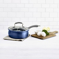 Epicuriousアルミテフロン加工の8インチCovered Egg Poacher In Arctic Blue