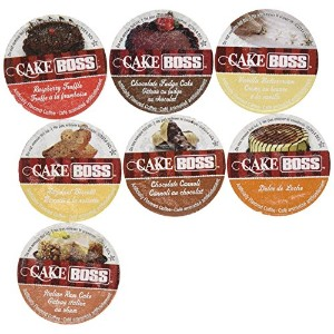 20 Cup Cake Bossテつョ FLAVORED ONLY Coffee Sampler! 7 New Delicious Flavors! NO DECAF! Chocolate Cannoli, Italian Rum Cake, Raspberry Truffle, Dulce De Leche (caramel) + So Delicious! by Custom Variety Pack