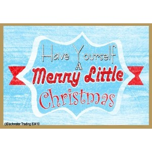 "レトロHave Yourself a Merry Little Christmas 3.5 "" X 2.5 ""冷蔵庫マグネット"