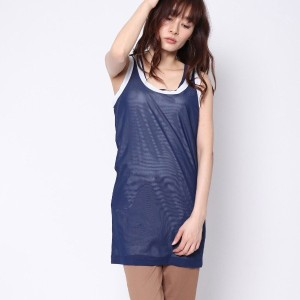 【SALE 79%OFF】ニューヨーク インダストリー New York Industrie Outlet メッシュカットソー (ブルー)