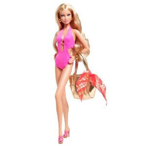 Barbie Basics Model No. 04 Collection 003 -- BRAND NEW Pink Swimsuit by Mattel