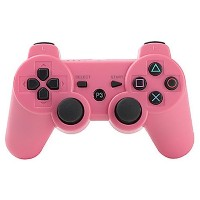 PS3用 ワイヤレスコントローラー 互換 コード付 (ピンク)