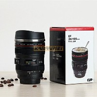 400ML Superior quality gift stainless steel EF24-105mm liner Camera Lens Mugs Coffee cup Tea Cup