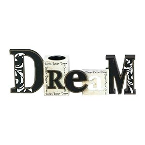 StealStreet ss-ug-sg-8890 Cutout Word Collectible Dream with Decorative Candleティーライトホルダー